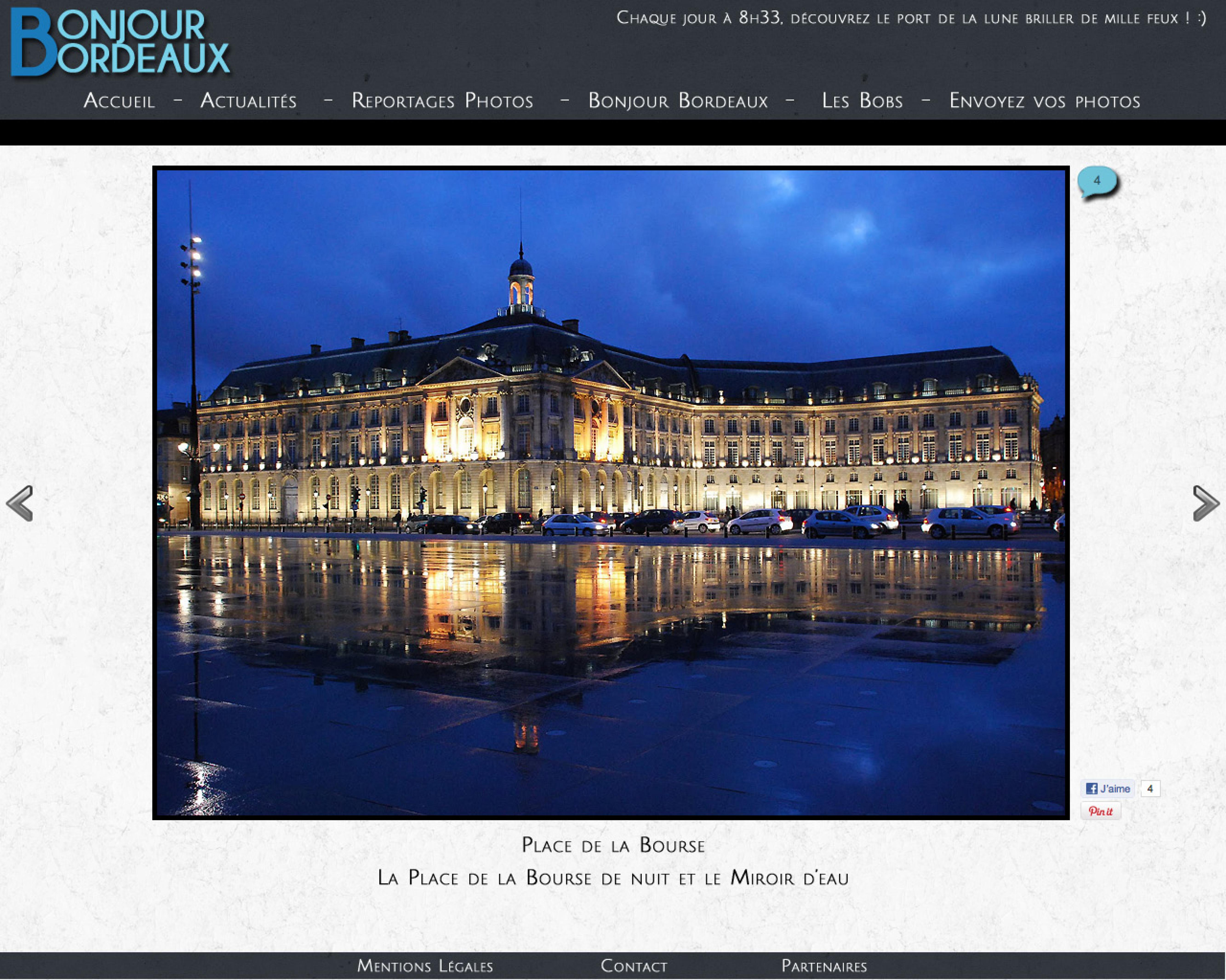 Proposition de web design pour Bonjour Bordeaux (Coven Web)