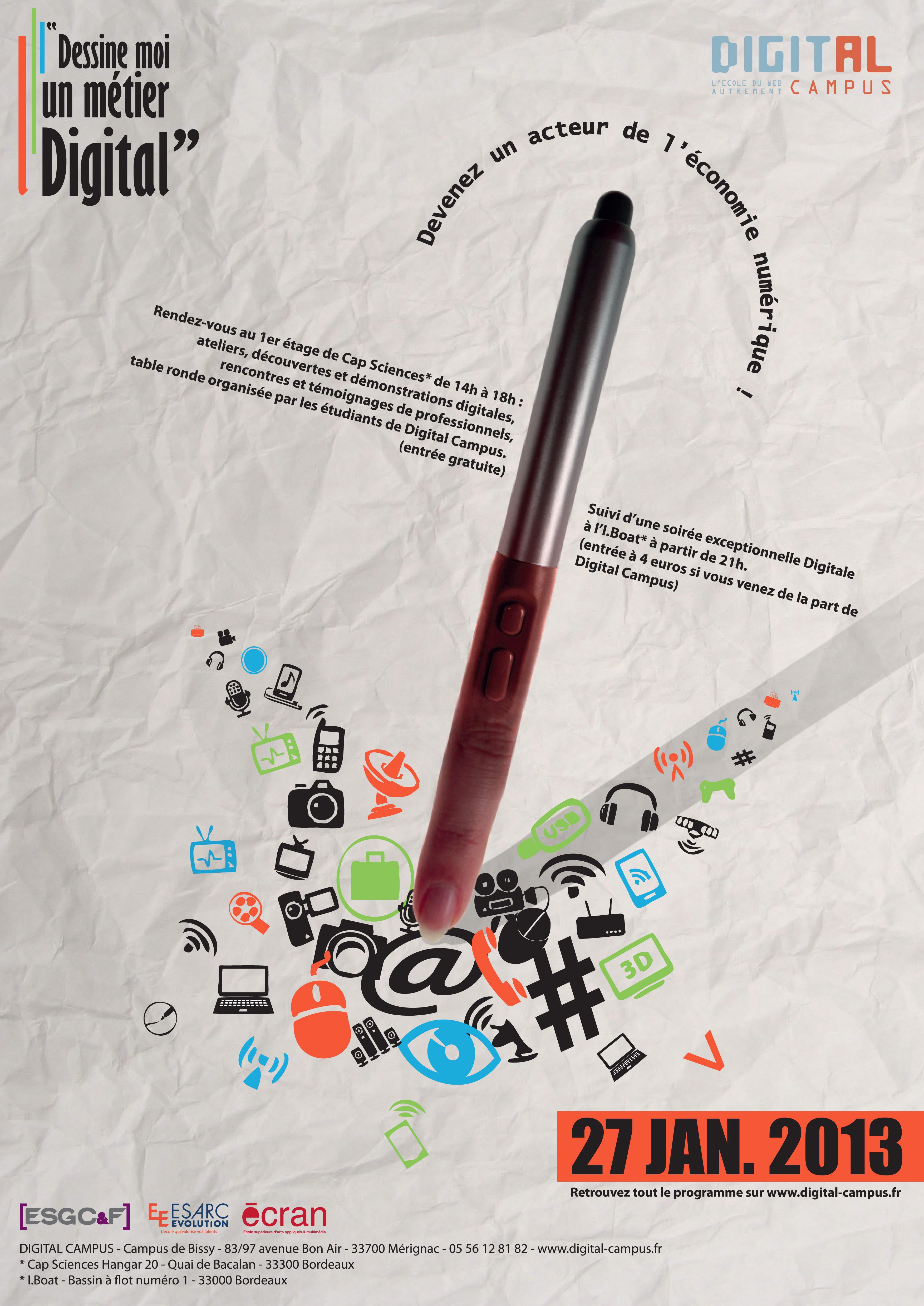 Affiche sélectionné pour la promotion de Dessine moi un métier Digital